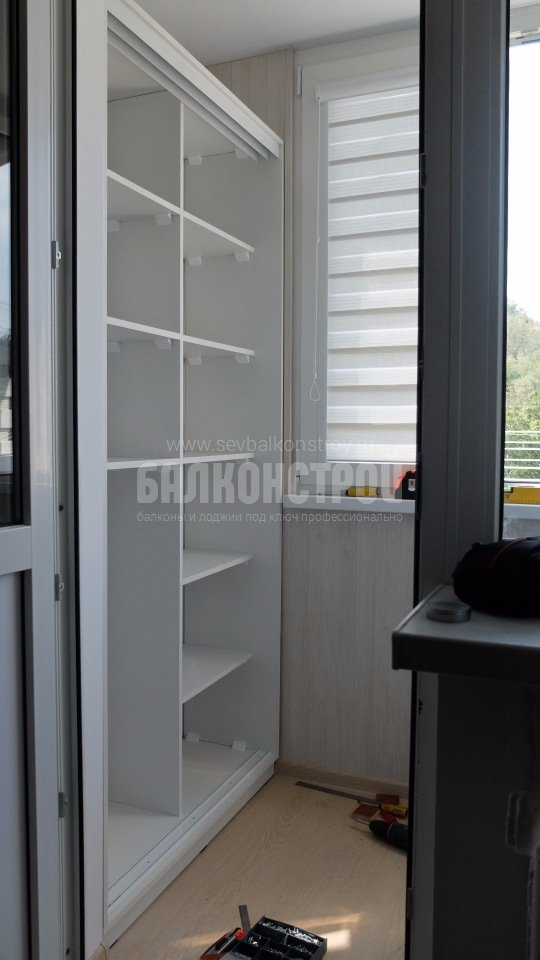 Шкафы на балкон. Новикова, 31