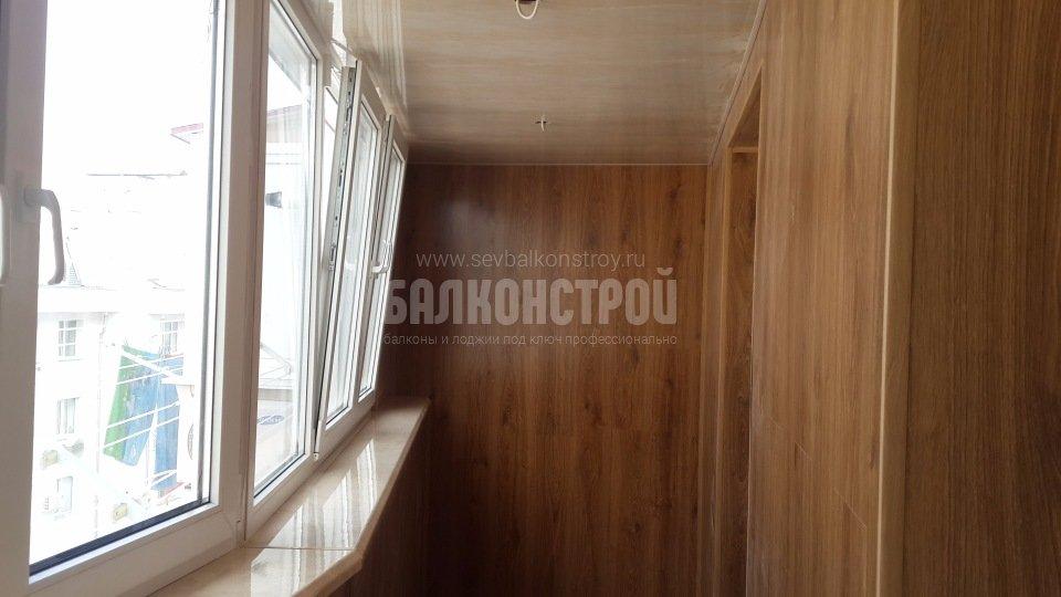 Отделка балконов. Кесаева, 12